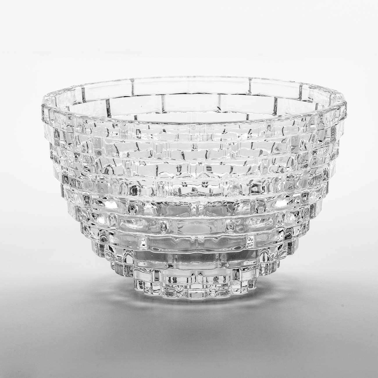 Saladeira Degradê em Cristal c/ Relevo - Wolff - 22,7 cm
