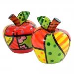 Saleiro e Pimenteiro Apple - Romero Britto - em Cerâmica - 8x7 cm