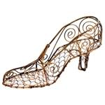 Sapato Decorativo Arabesco em Metal - 25x12 cm