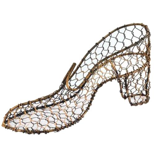 Sapato Decorativo Classis Dourado em Metal - 26x12 cm