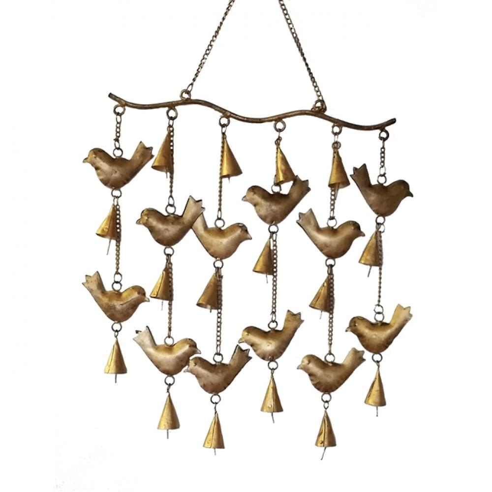 Sino Adereço Pássaros Punjab Dourado