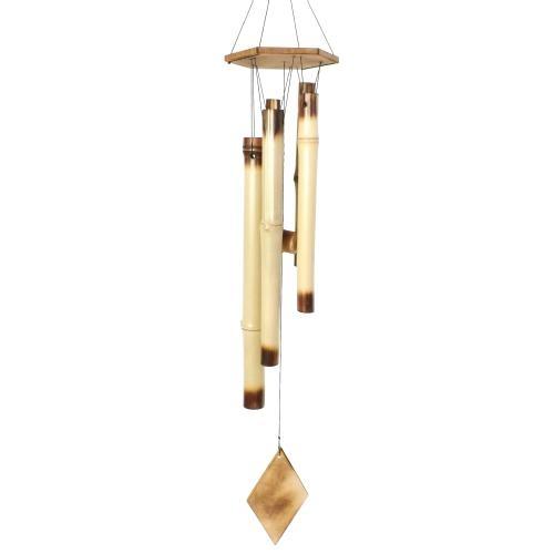 Sino Dos Ventos - Feito de 4 Bambus / Decorativo (Catavento) / 76x12 cm