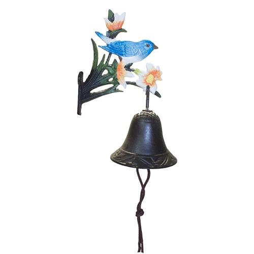 Sino de Parede Pássaro Azul Greenway em Metal - 21x13 cm
