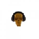 Skull amarela fones pretos