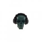 Skull azul fones pretos
