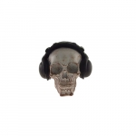 Skull branca fones pretos