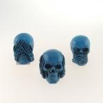 Skull cega, surda e muda azul