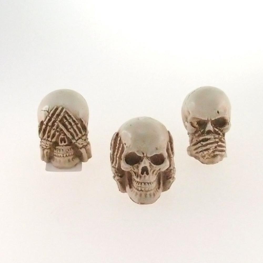 Skull cega, surda e muda branca