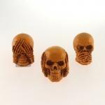 Skull cega, surda e muda mostarda