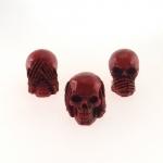 Skull cega, surda e muda vermelha