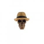 Skull chapéu palha