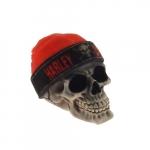 Skull gorro Harley laranja