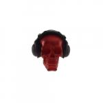 Skull vermelha fones pretos