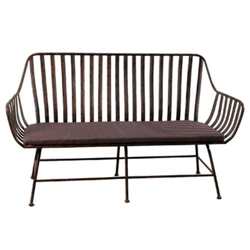 Sofá 2 Lugares Assento Almofada em Metal - 160x94 cm