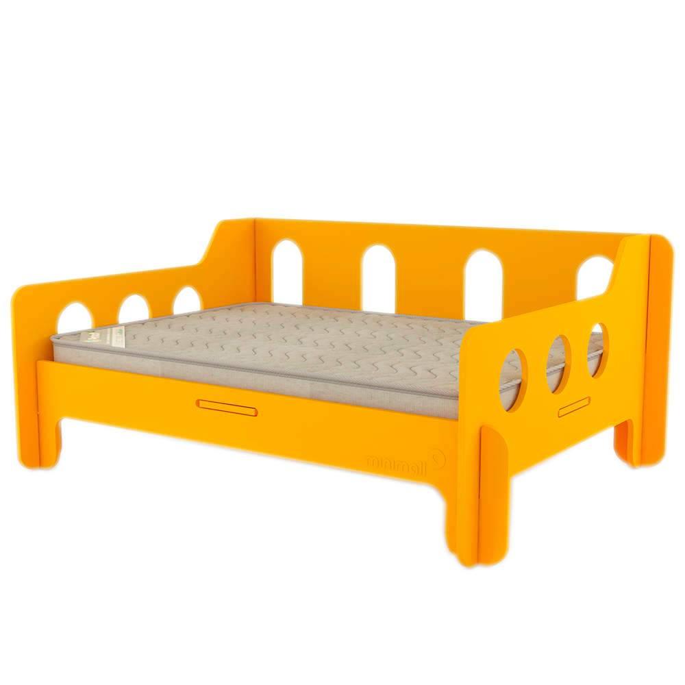 Sofá para Pet BabyChill Amarelo em MDF - Médio - 79x59 cm