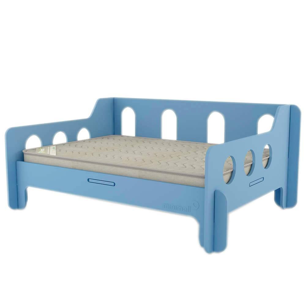 Sofá para Pet BabyChill Azul em MDF - Pequeno - 58x43 cm