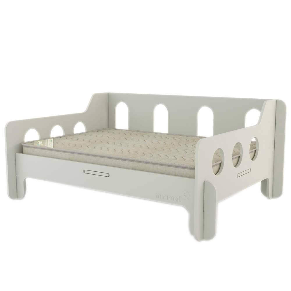 Sofá para Pet BabyChill Cinza em MDF - Médio - 79x59 cm