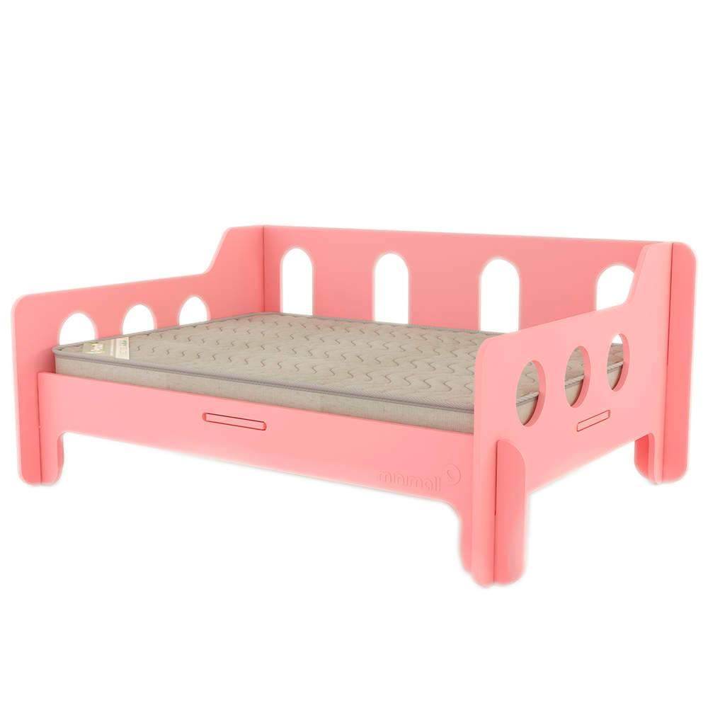 Sofá para Pet BabyChill Rosa em MDF - Grande - 112x82 cm