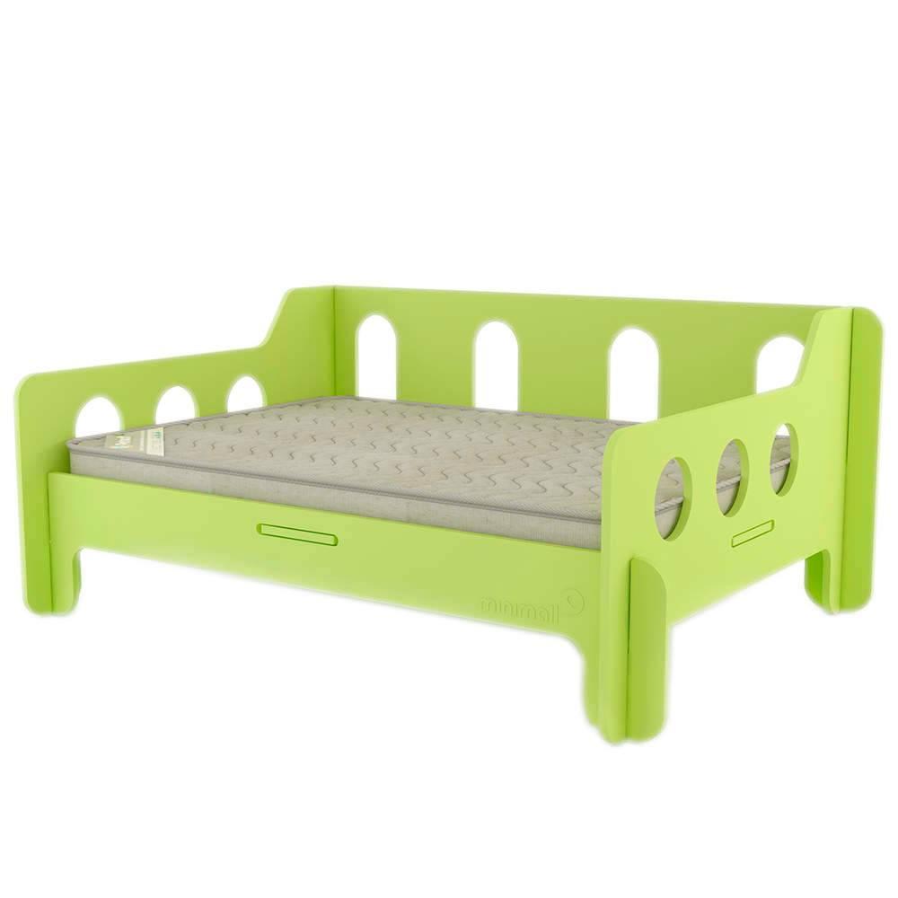 Sofá para Pet BabyChill Verde em MDF - Pequeno - 58x43 cm