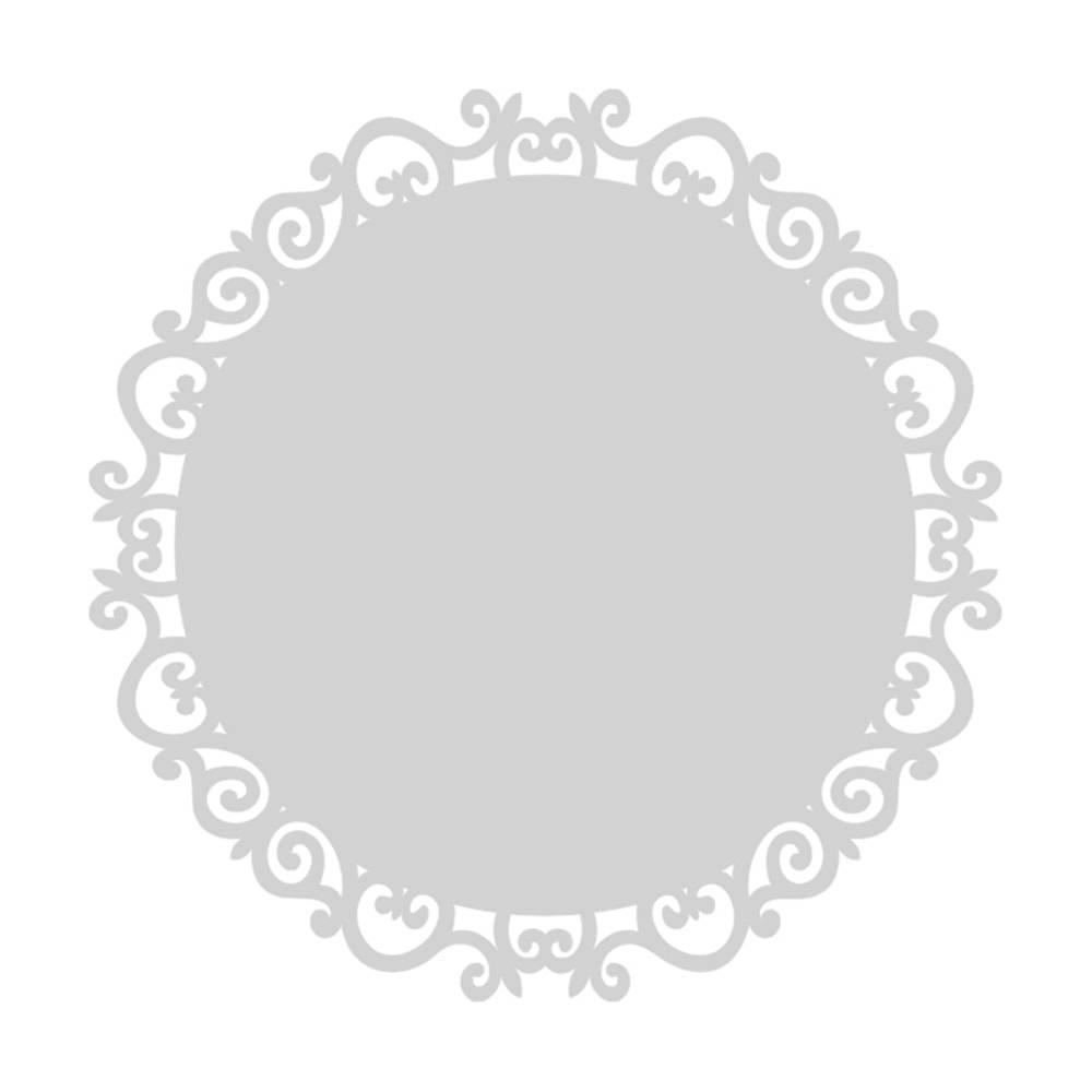 Sousplat Esther em MDF Laqueado Branco - 34 cm