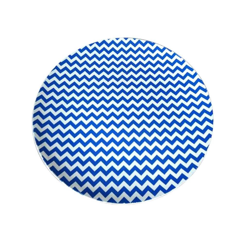 Sousplat Indigo Triangle Points Azul em Polipropileno - Urban - 33 cm