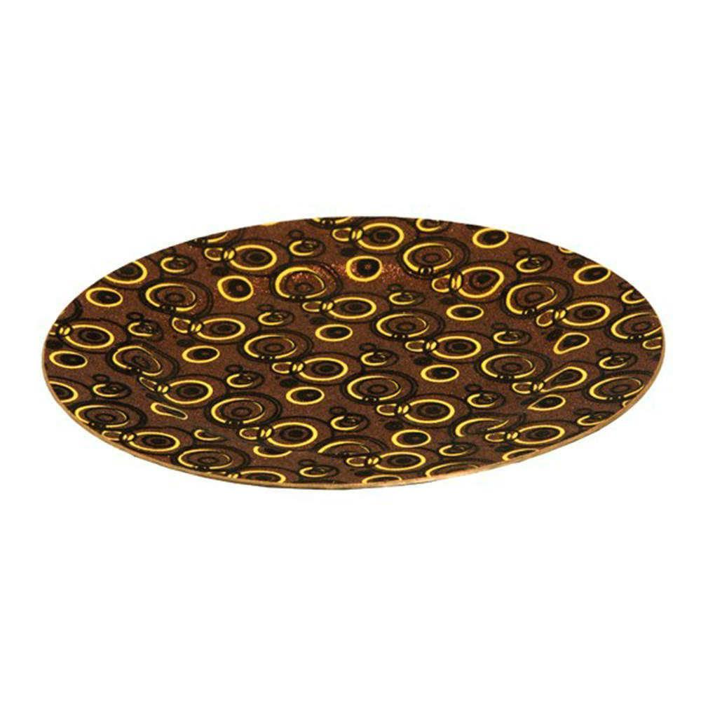 Sousplat Purpurina Bronze em Resina - 33x2 cm
