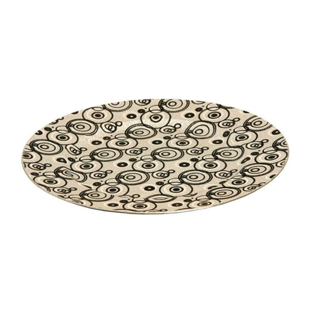 Sousplat Purpurina Prata em Resina - 33x2 cm