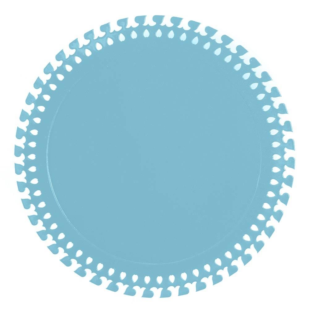 Sousplat Roma em MDF Laqueado Aquamarine - 32 cm