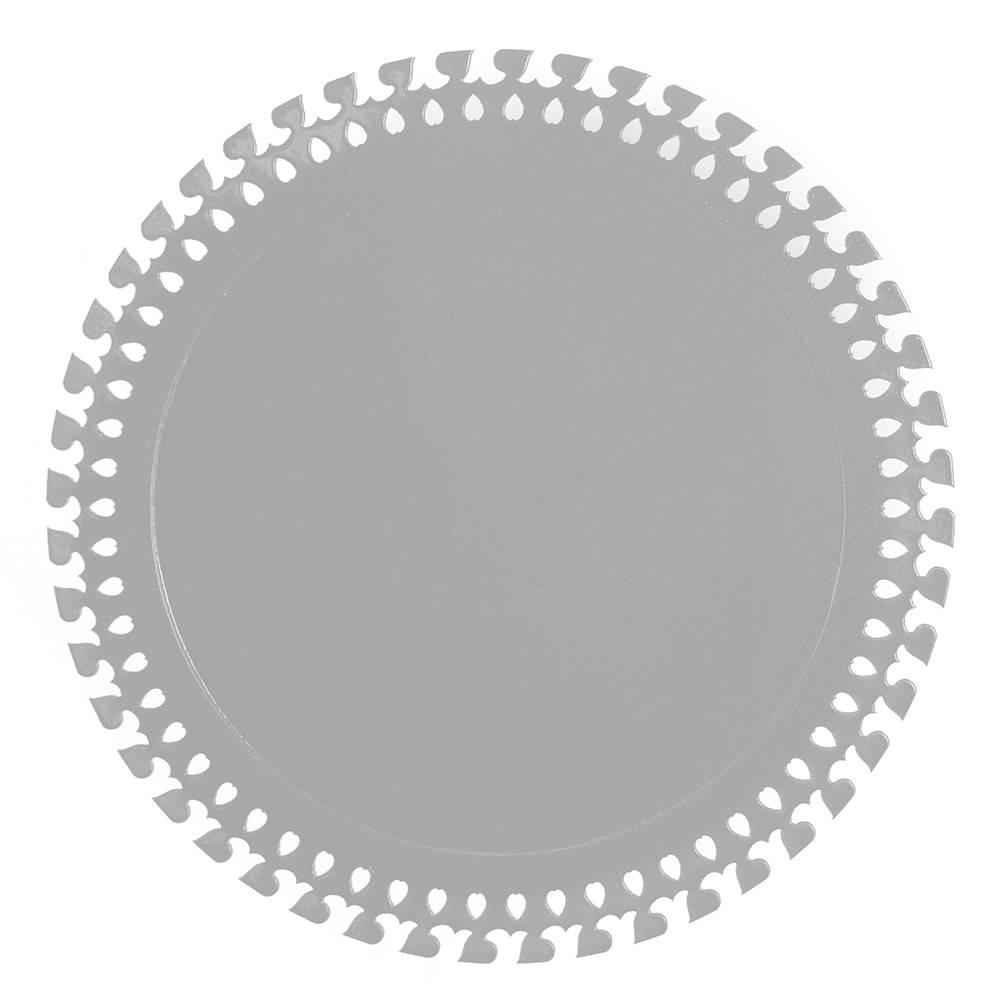 Sousplat Roma em MDF Laqueado Prata - 32 cm