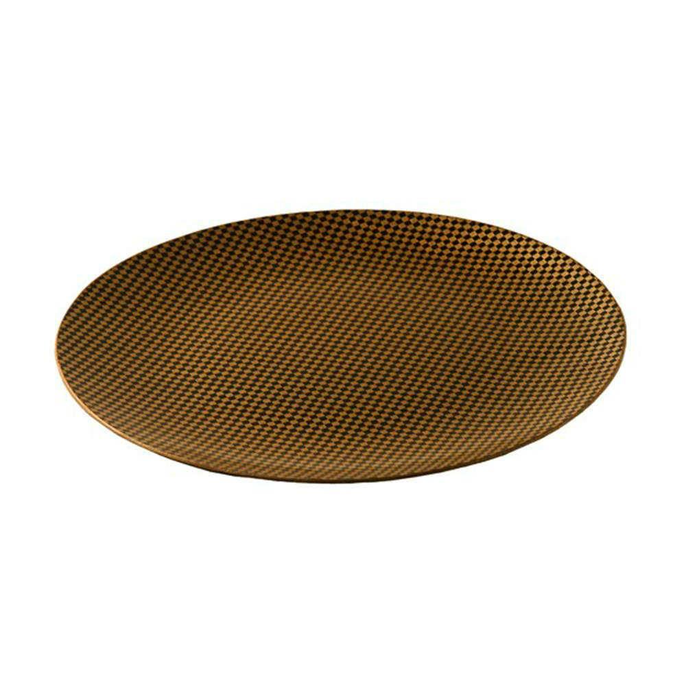 Sousplat Xadrez Ouro em Resina - 33x2 cm