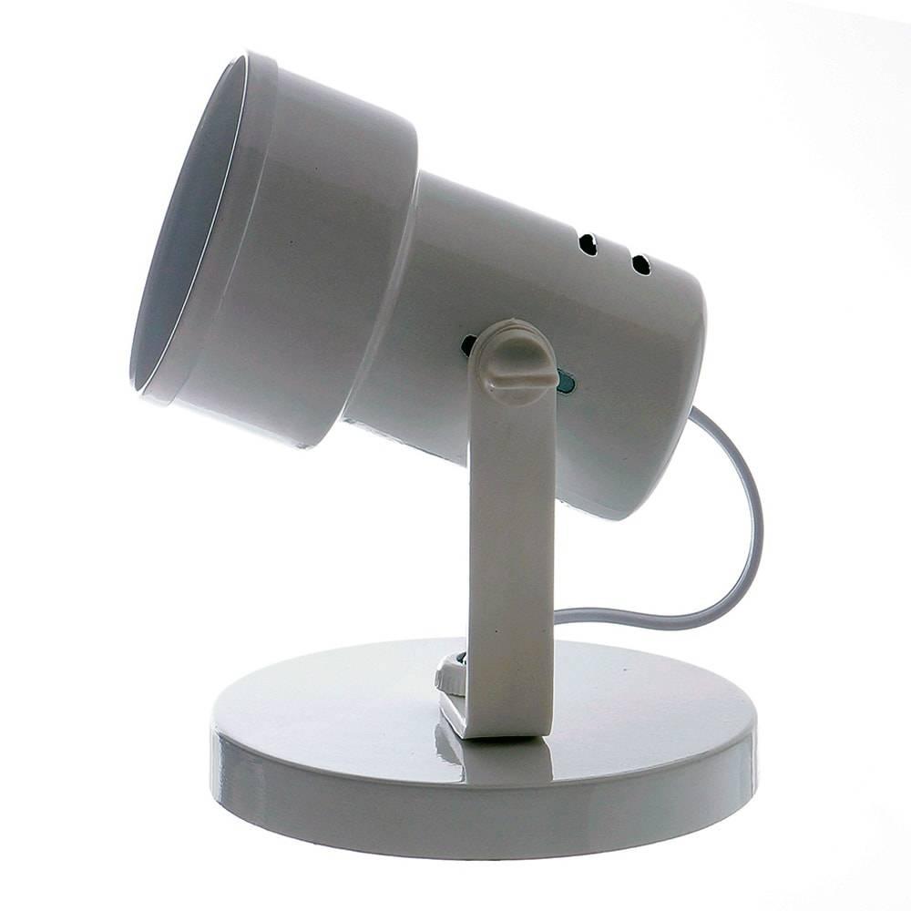 Spot Bocal c/ Aro Branco Articulado - de Parede ou Teto - em Alumínio - 17x12 cm