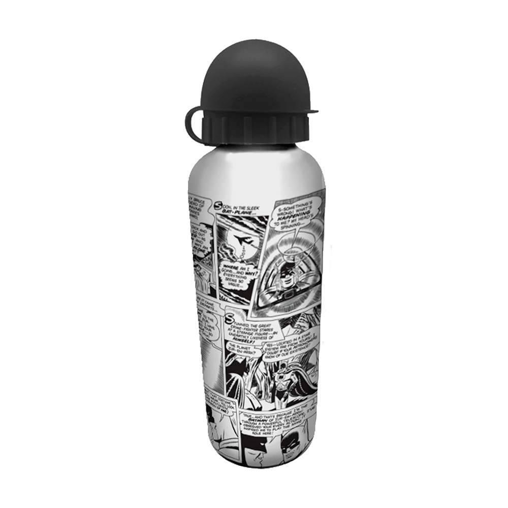 Squeeze DC Comics Quadrinhos Preto e Branco 500 ml em Alumínio - Urban - 21x6,5 cm