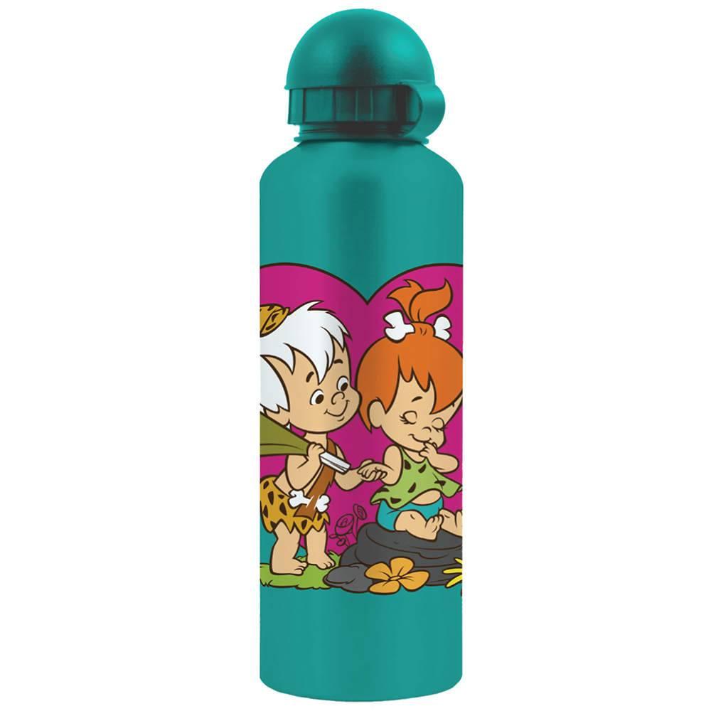 Squeeze Hanna Barbera Flintstones Pebbels And Bam Bam Heart em Alumínio - Urban - 21x6,5 cm
