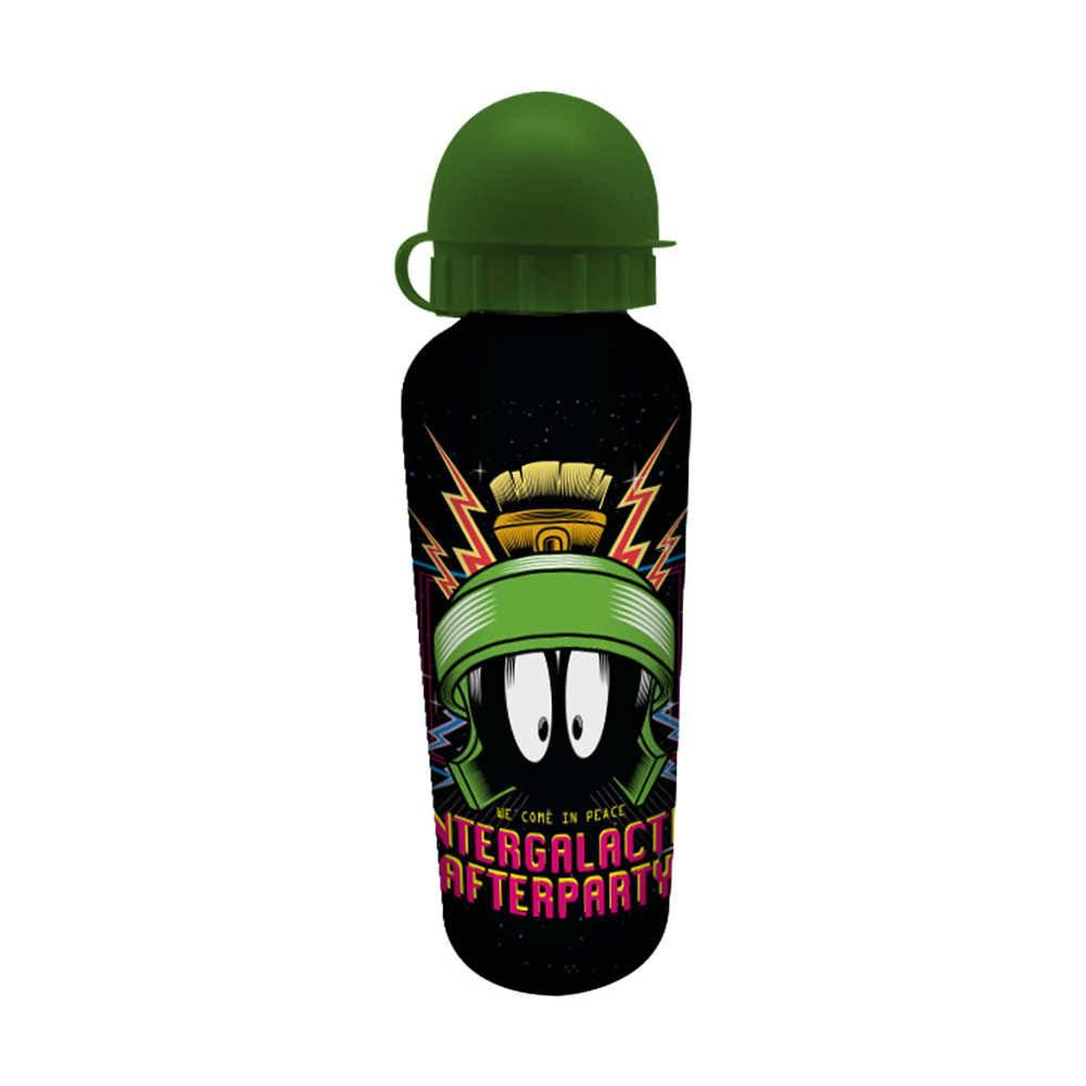 Squeeze Looney Tunes Marvin Intergalactic Preta - 500 ml - em Alumínio - Urban - 21x6,5 cm