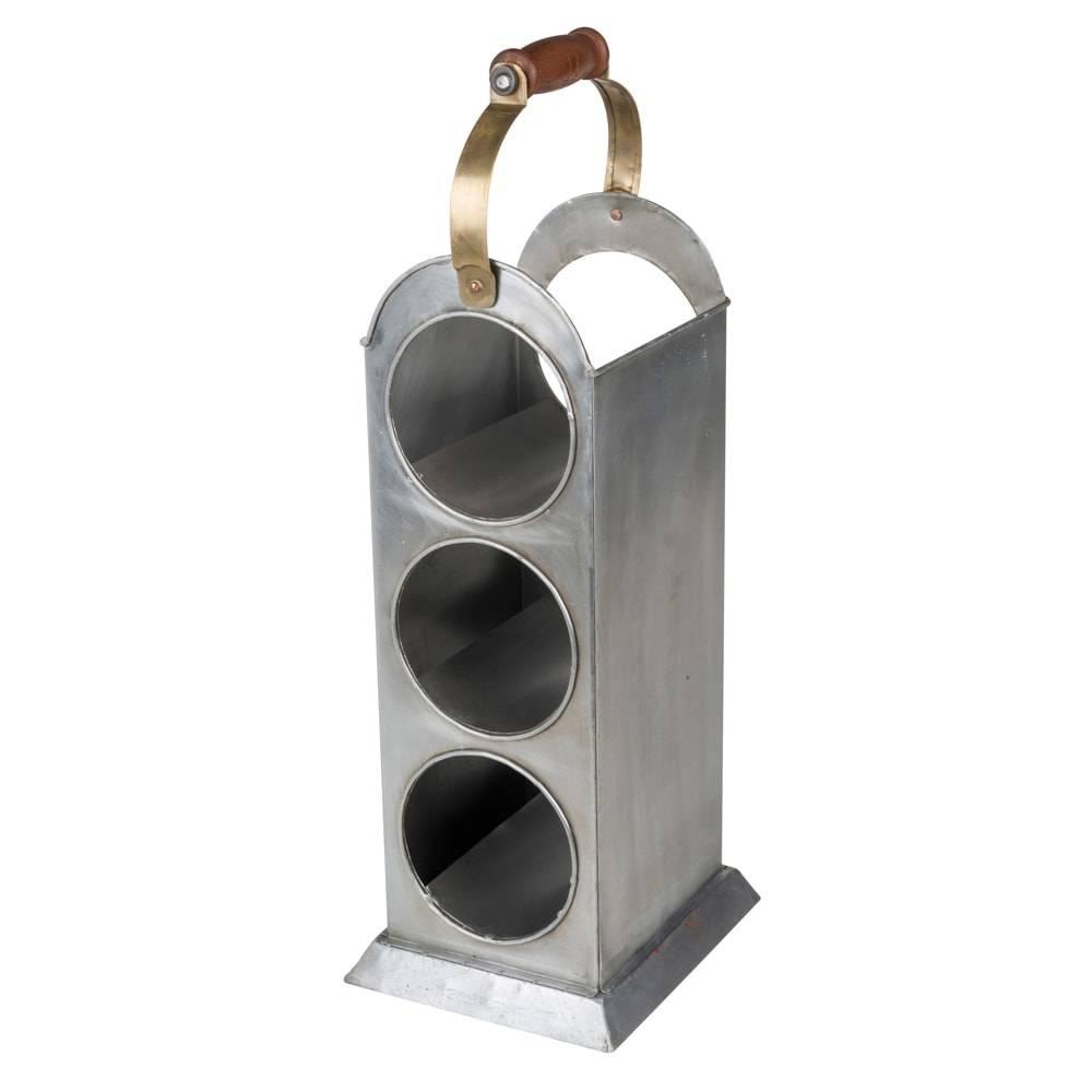Suporte para 3 Garrafas de Vinho em Ferro Fundido - Lyor Classic - 49 cm