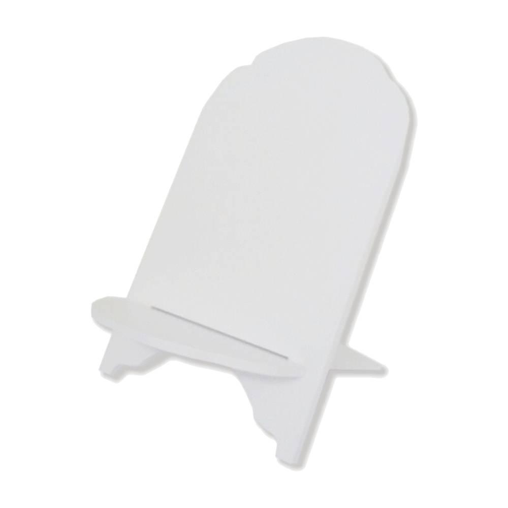 Suporte para Bíblia Liso Branco em MDF Laqueado - 30,5x21 cm