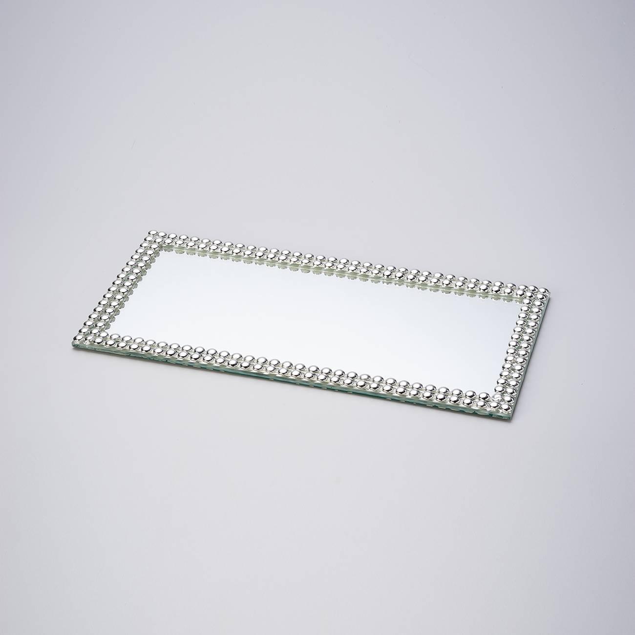 Bandeja Multiuso Espelhada com Acabamento em Acrílico - Prestige - 32x16 cm