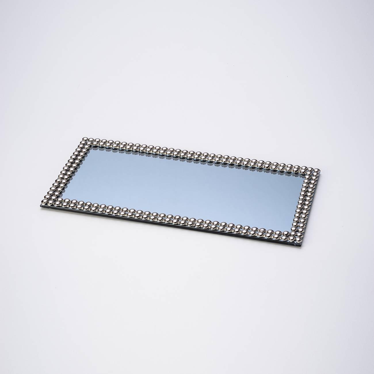 Bandeja Multiuso Espelhado Fumê com Acabamento em Acrílico - Prestige - 32x16 cm