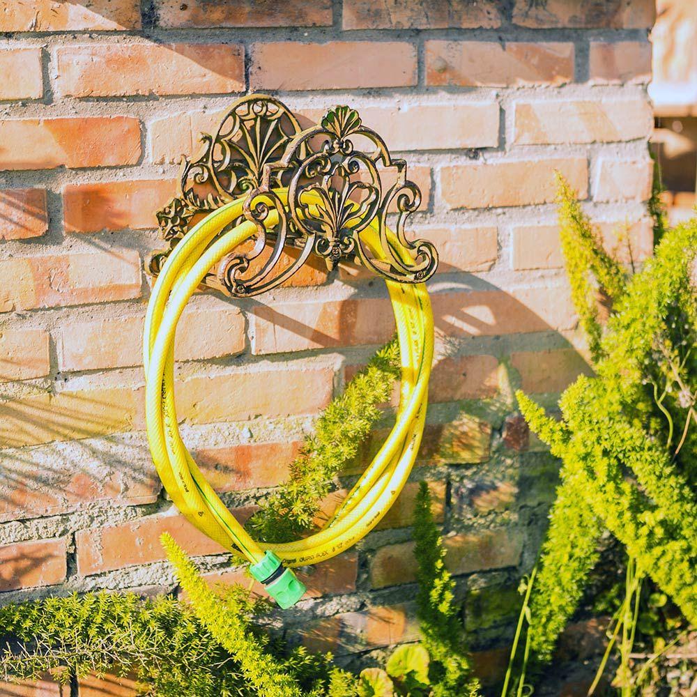 Suporte de Mangueira Arabescos Verde Greenway - 27x20 cm