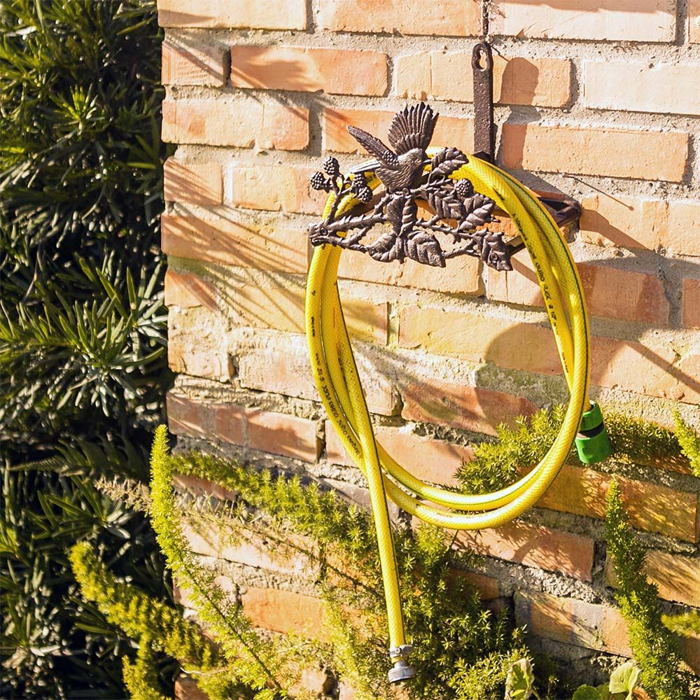 Suporte de Mangueira Pássaro e Folhas Greenway - 26x18 cm
