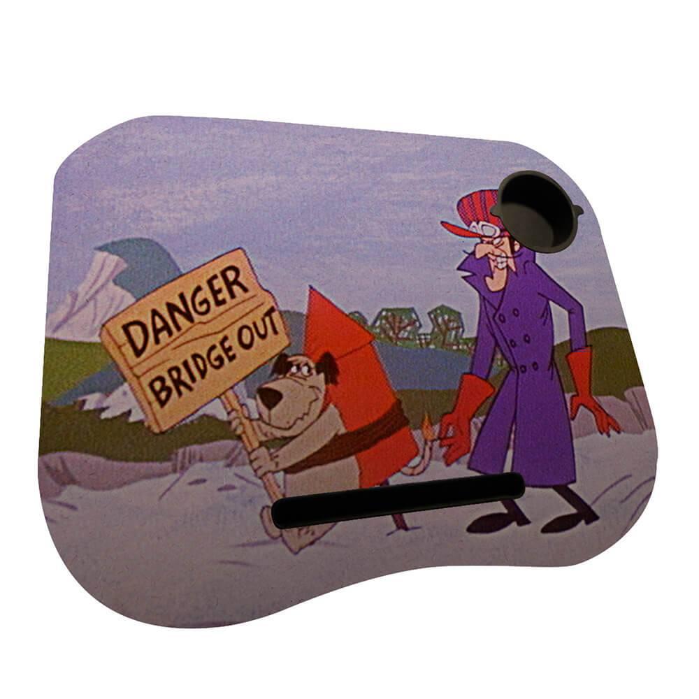 Suporte para Notebook Hanna Barbera Wacky Race Dick And Mutley Danger Bridge em MDF - Urban - 48x38 cm