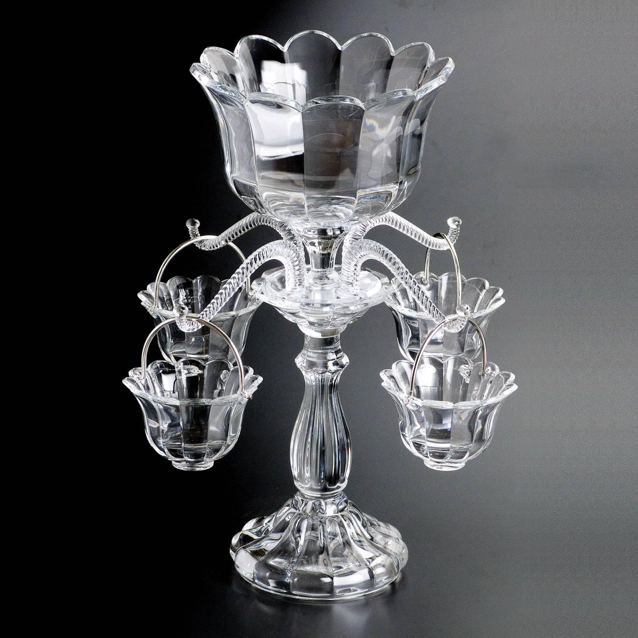 Suporte para Flores em Forma de Castiçal - Bohemia Crystalite