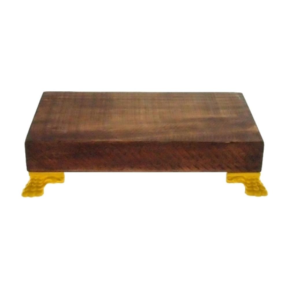 Suporte wood pés amarelos