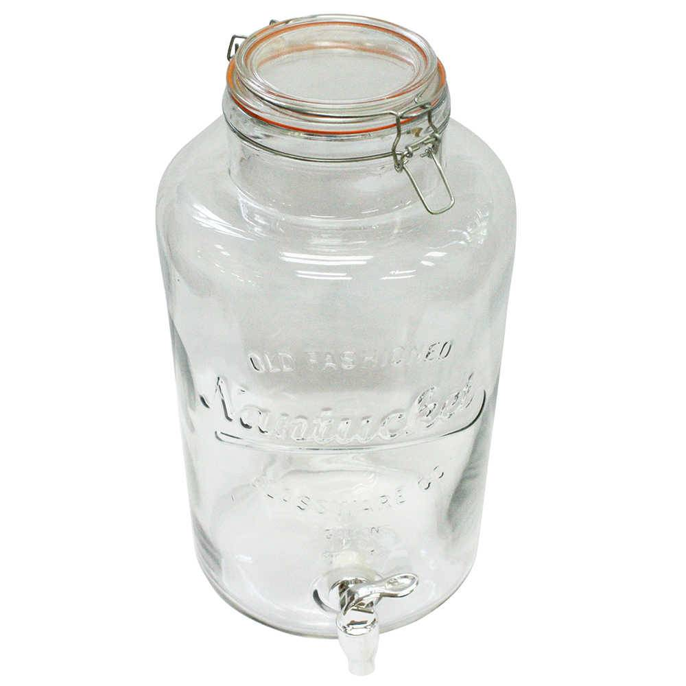 Suqueira Transparente 8,5 Litros em Vidro - Urban - 36x20 cm