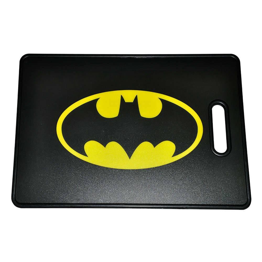 Tábua de Corte DC Comics Logo do Batman Amarelo e Preto - Urban - 44x30 cm