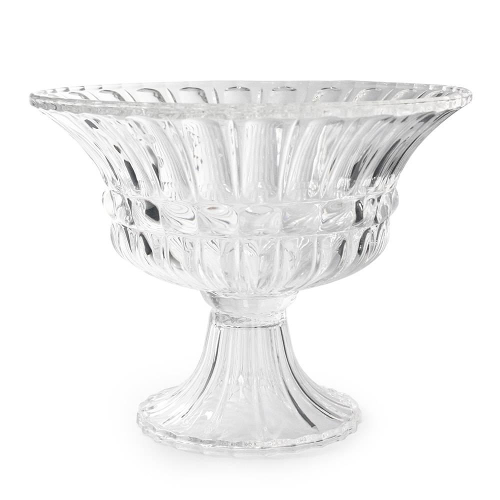 Taça Aland Grande Transparente em Vidro - 30,5x24 cm