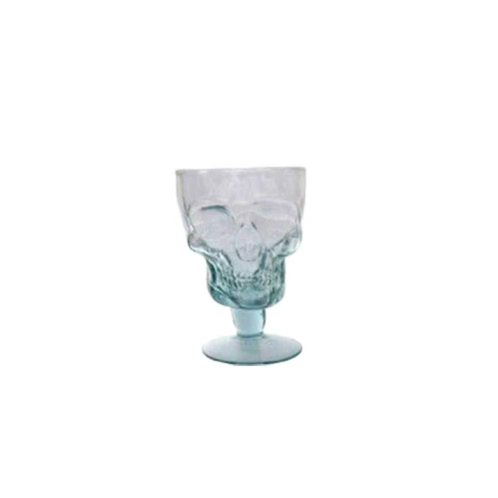 Taça Caveira em Vidro Transparente - 12x8 cm
