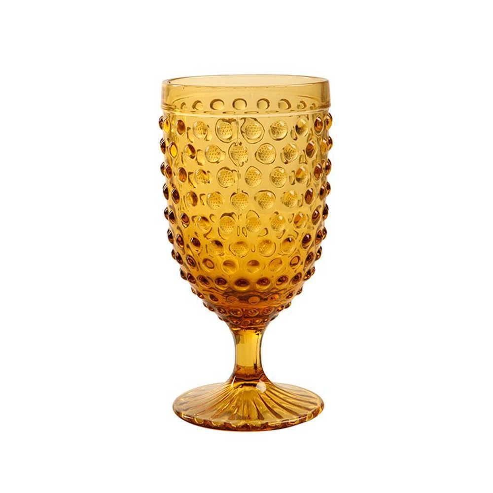 Taça para Champagne Hobnail Âmbar - 350 ml - em Vidro - 17x9 cm