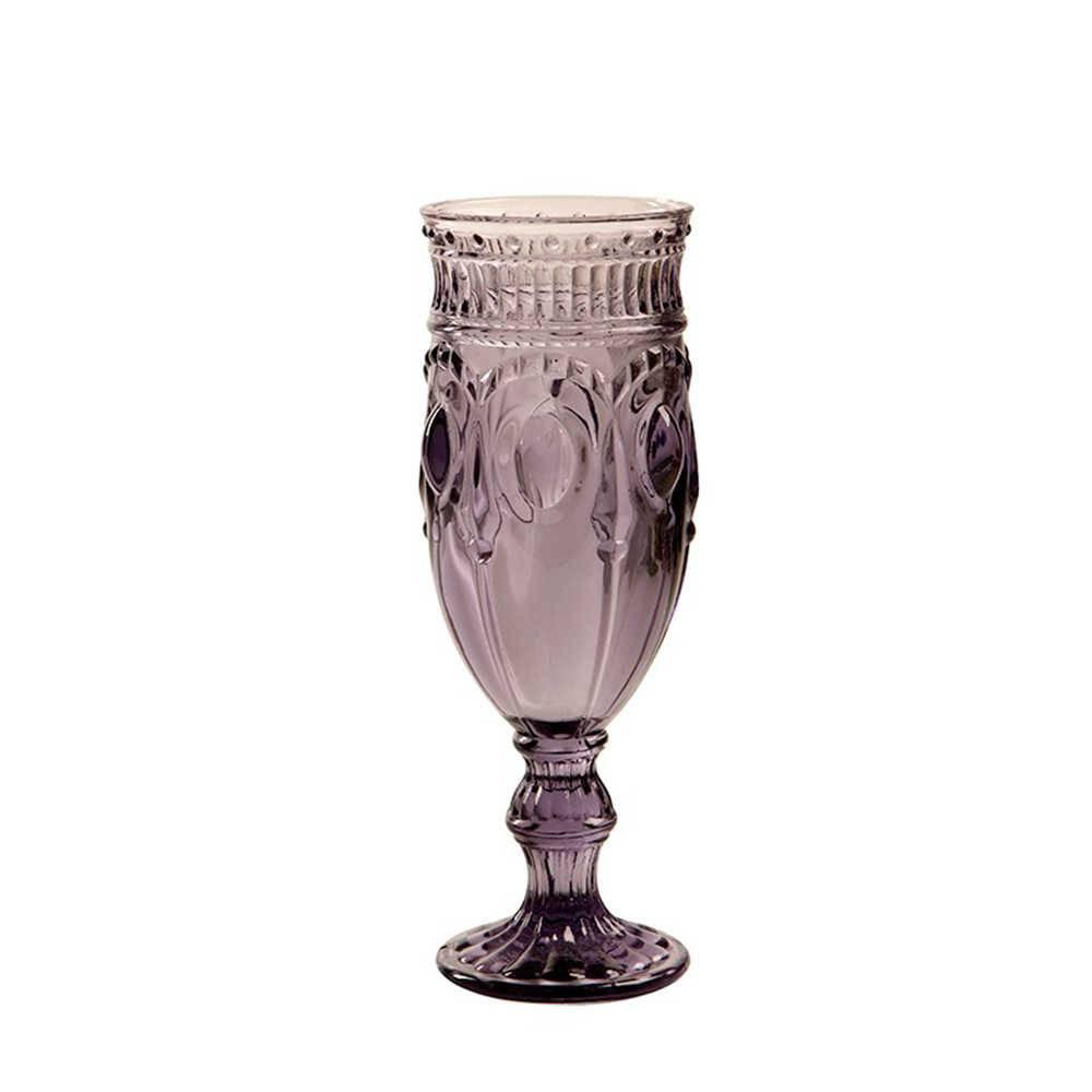 Taça para Champagne Jewelry Roxa - 200 ml - em Vidro - 18x6 cm