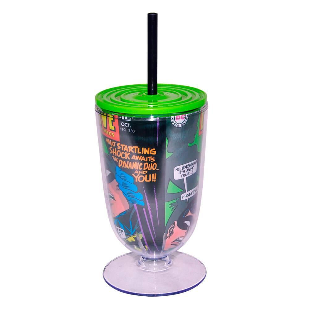 Taça DC Comics Batman And Robin 550 ml Fundo Verde em Acrílico - Urban - 25x10 cm